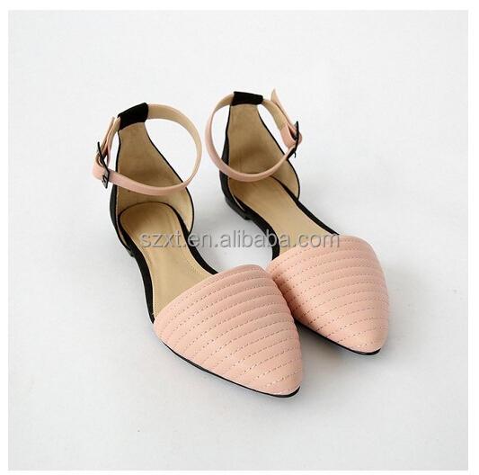 Latest Pink Girls Branded Shoes Copy Women Ankle Strap Flat Sandal ...