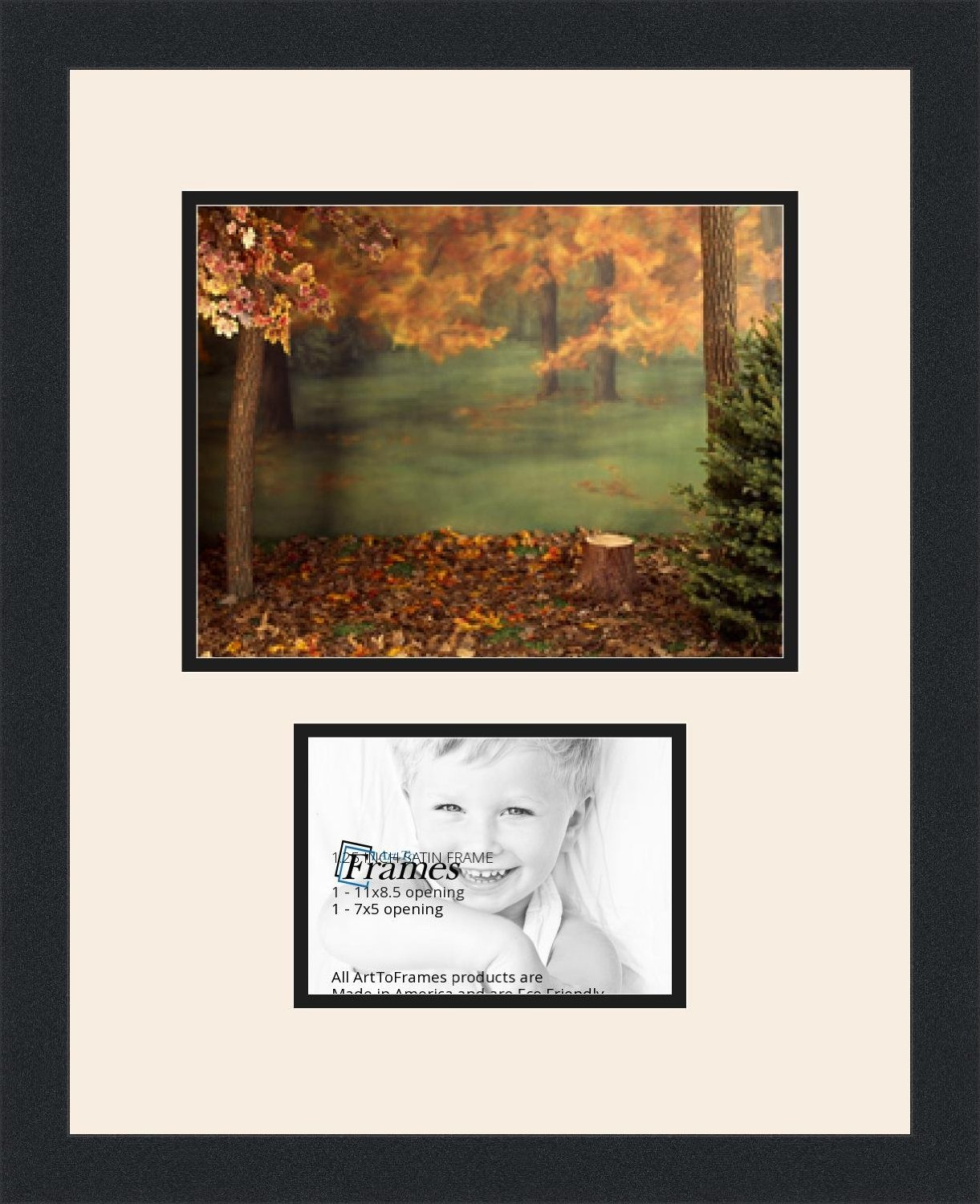 Buy ArtToFrames Collage Photo Frame Double Mat with 1 - 5x7^ 8.5x11 ...