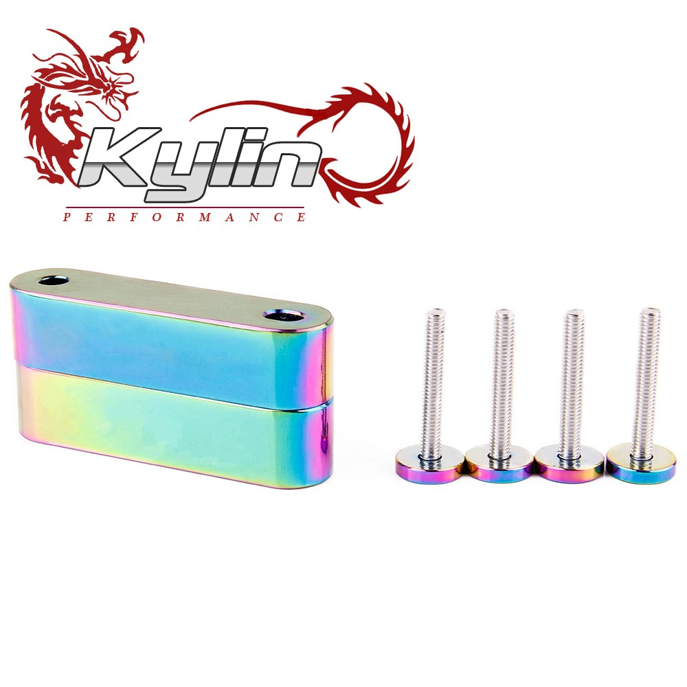 Kylin racing NEO CHROME Billet Aluminum Hood Risers For h <strong>auto</strong> with 4pcs fender washers