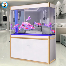 2018 high quality new design glass aqurium fish tank with cabinet