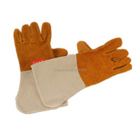 GZY Safety Golves High Quality Industrial Mens Cheaper Price Pigskin Leather Welding Gloves