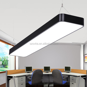 LED Office Chandelier Simple Modern Aluminum Studio Office Lighting Hanging  Lights
