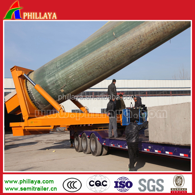 self-propelled wind blade 4 axles extendable trailer