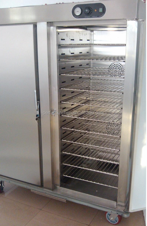 Double Doors Electric Food Warmer Trolley Hospital Food