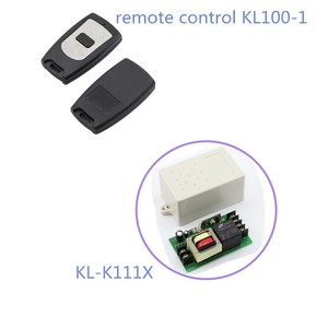 Good quality 1 button Black universal gate rf remote control KL100-1
