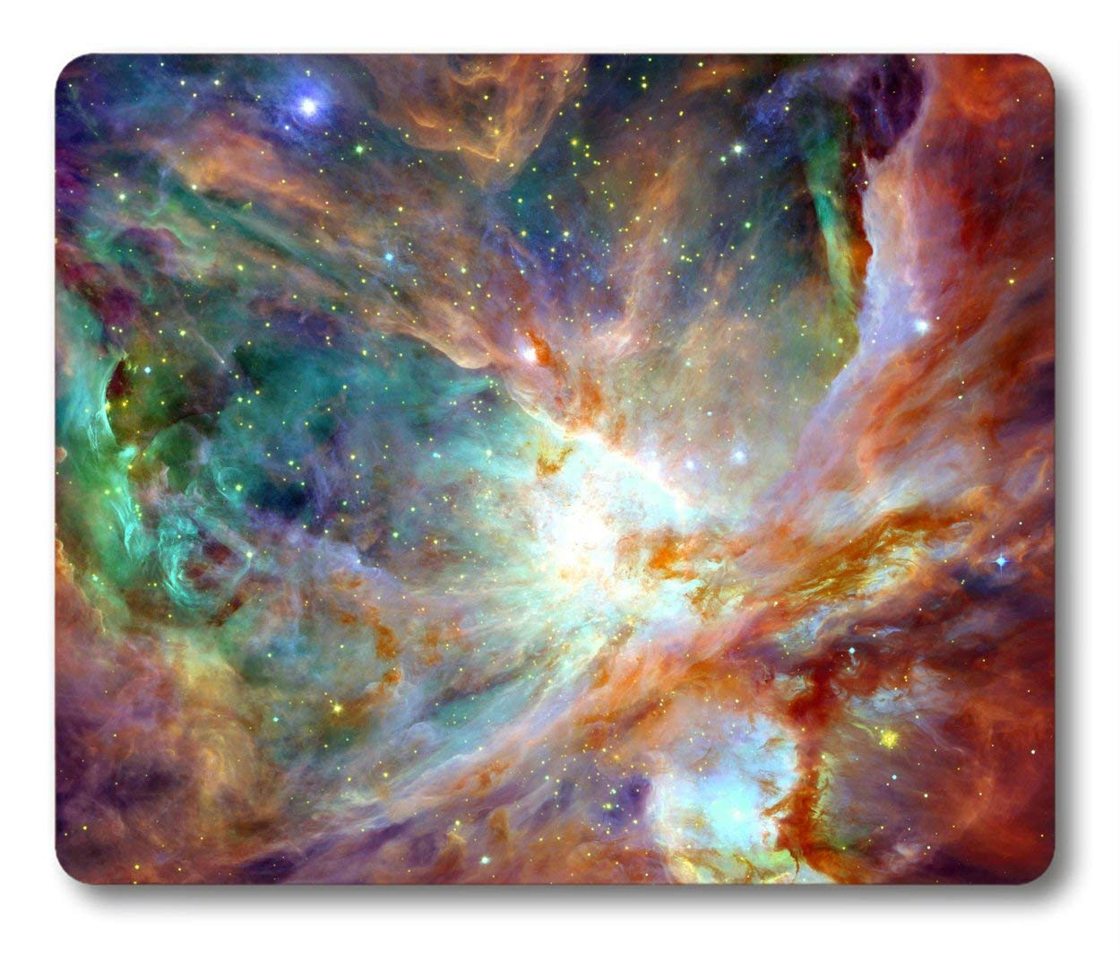 Nebula Mouse Pad by Smooffly,Colorful Night Sky With Clouds Stars Nebula Rectangle Non-Slip Rubber Mousepad Gaming Mouse Pad