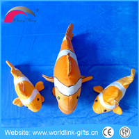 custom make cheap plush toy sea animal golden lifelike clown fish toys