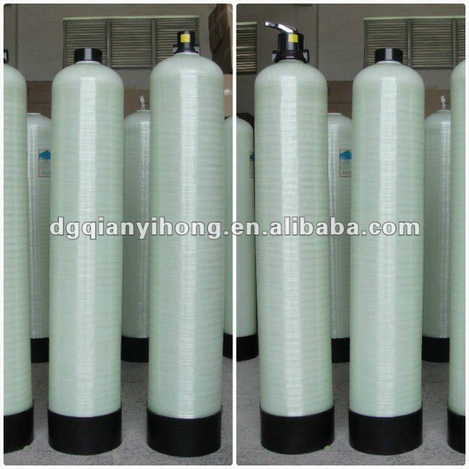 Industrial FRP Water Treatment Tanks With Tank Head / Valve
