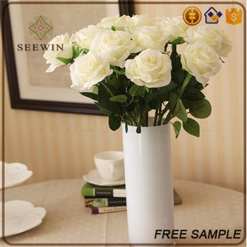 Wholesale wedding decorative bulk silk cloth white artificial rose wholesale wedding decorative bulk silk cloth white artificial rose flower mightylinksfo