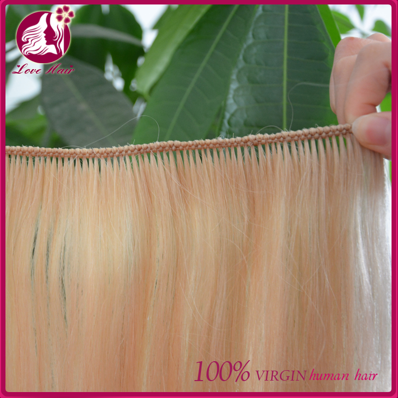Grade 7a 100% Hand Tied Hair Extensions brazilian Full Cuticle full hand tied Hair Weft