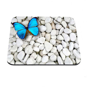 Green Butterfly Art Best-selling anti-skid mouse pad Computer animal mouse pad for office family game player gift