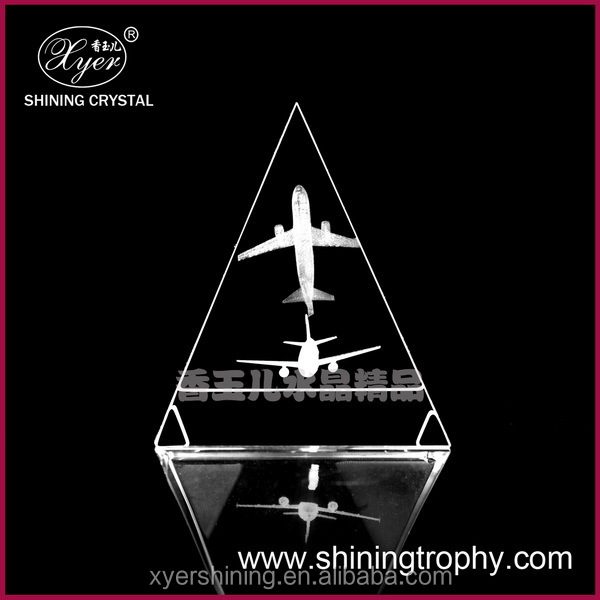 2015 Shining 3d laser crystal engraving airplane model