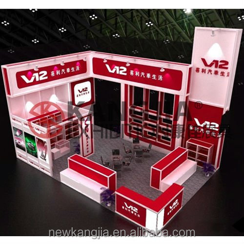 3m*6m 2017 fashion modular and portable exhibition stall/booth design for trade fair