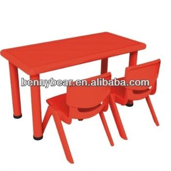 Vorschule Kindermöbel 2 Personen Rechteckigen Kunststoff Tisch Und