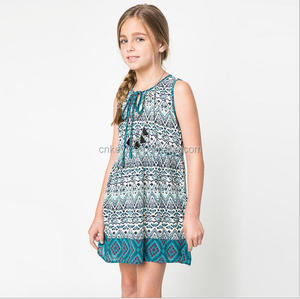 E0435A In the summer, the great children's national wind belt dresses with flowers