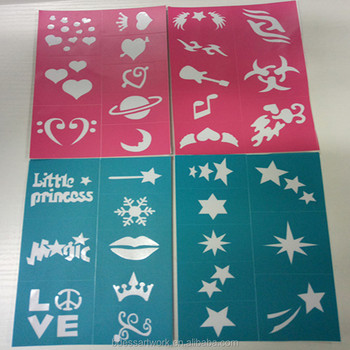 Private Label Temporary Tattoo Stencils Drawing Stencil Kit - Buy ...