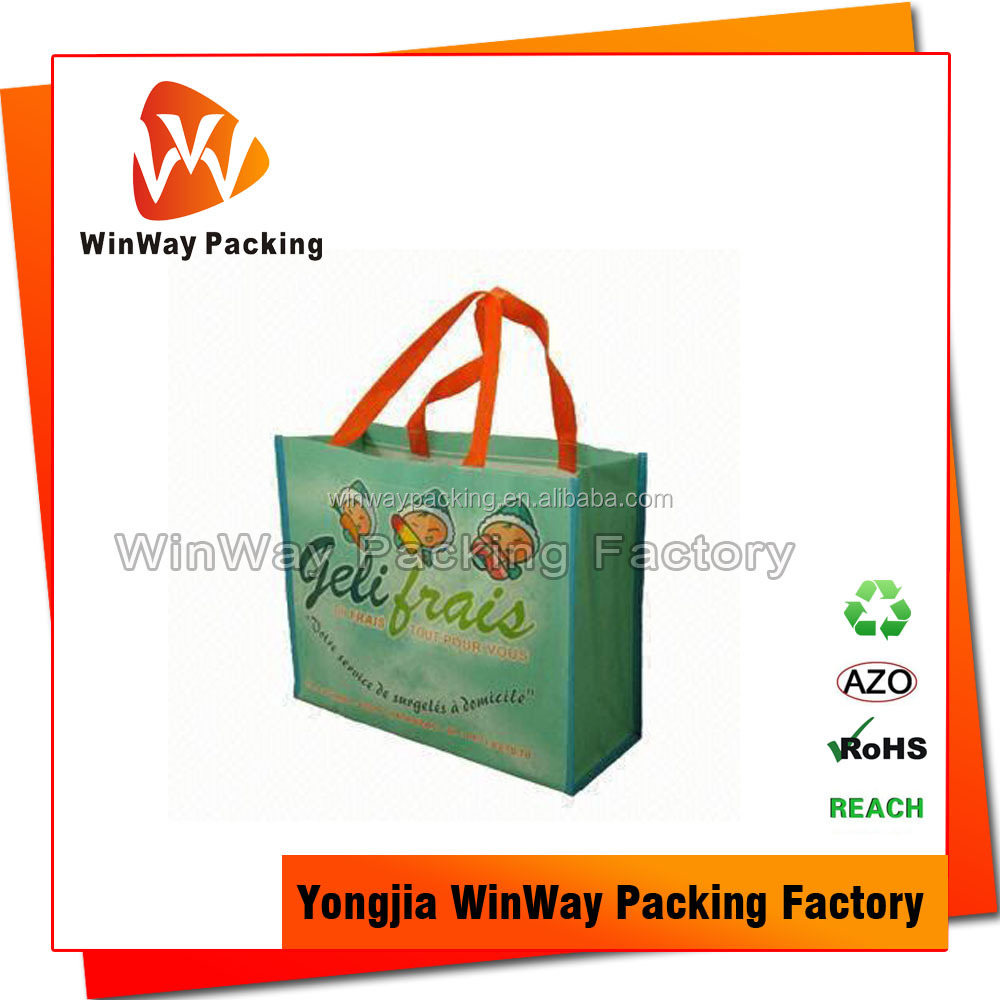 Eco Friendly Laminated PP Woven Recycle Shopping Bag
