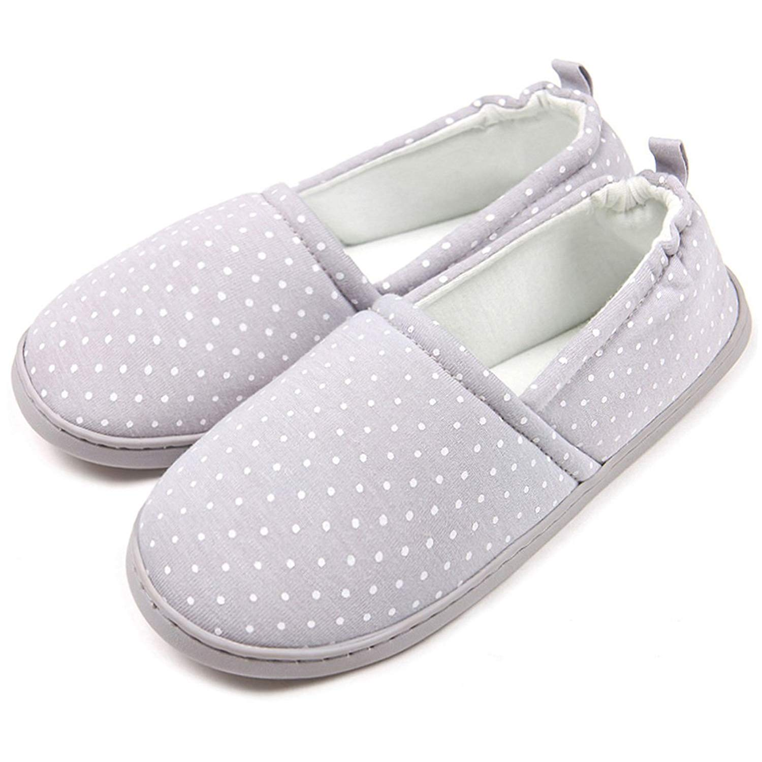 ChicNChic Women Comfortable Cotton Dot Anti Slip Slippers Washable Soft Sole Indoor House Shoes