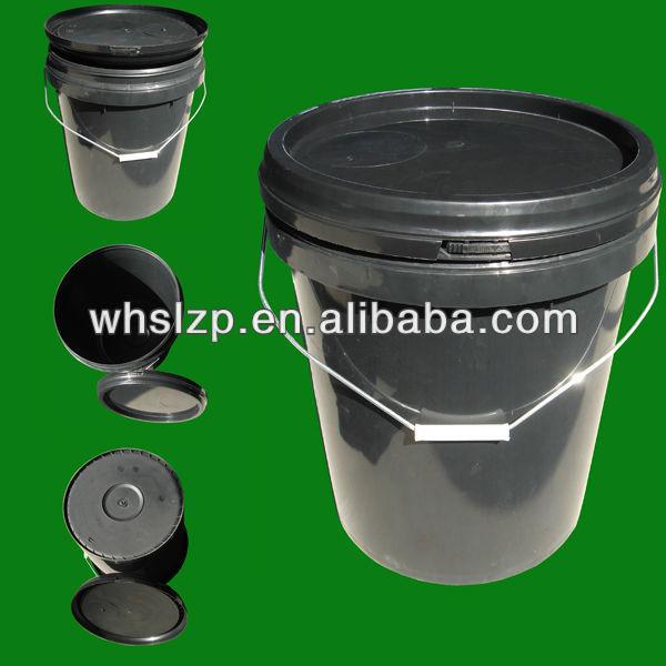 20l plastikeimer mit schwarzer k rper und deckel schwarz trommel eimer und fa produkt id. Black Bedroom Furniture Sets. Home Design Ideas