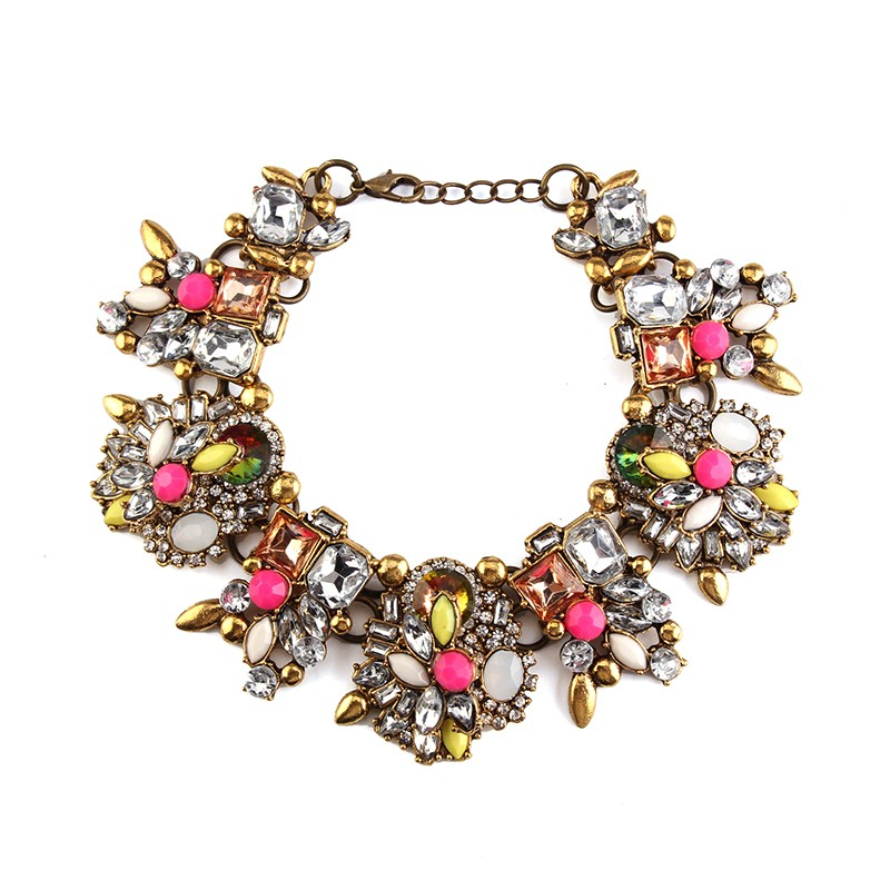 7 colors New Za Brand Shourouk Fashion Crystal resin colorful bracelet B131B