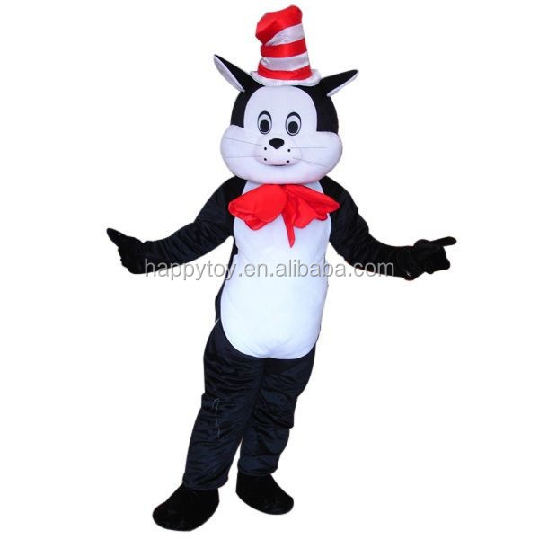 HI EN 71 high quality Dr. Seuss festival costume,animal cartoon cat Dr. Seuss costume for adult