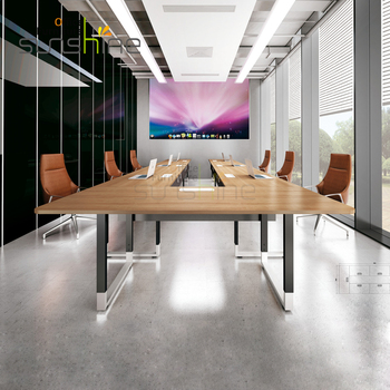 U Shape Modern Luxury Meeting Room Desk Modular Conference Table - Desk with conference table