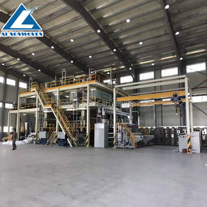 High quality automatic nonwoven fabric making machine / 2.4 M PP spun bonded non woven fabric making machine / fabric making