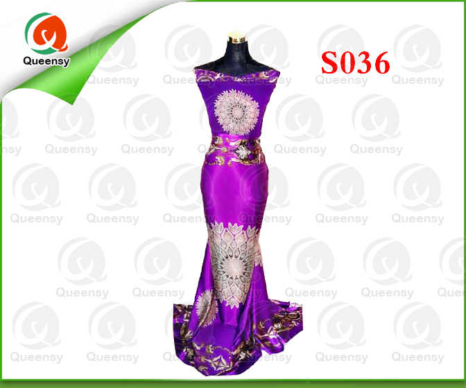 S036 poly back crepe satin/poly satin fabric/polyester satin