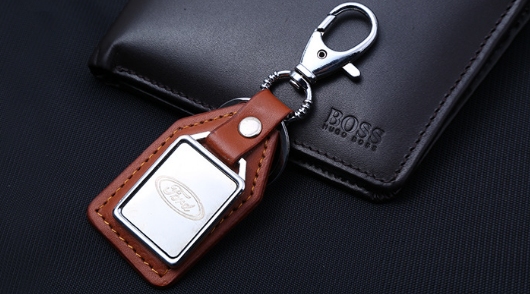 Wholesale Hotsell Leather Keychain Factory Outlet Good Quality Metal Keychain Promotion Gift