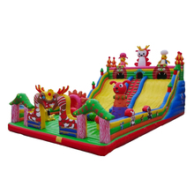 Dragon theme giant inflatable dry slide for kids