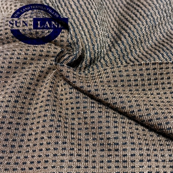 knit polyester yarn dyed waffle fabric for rugby clothing