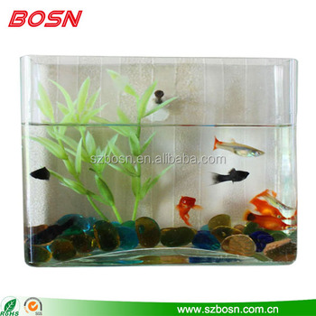 Home Furnishing Wall Mount Acrylic Fish Bowl Square