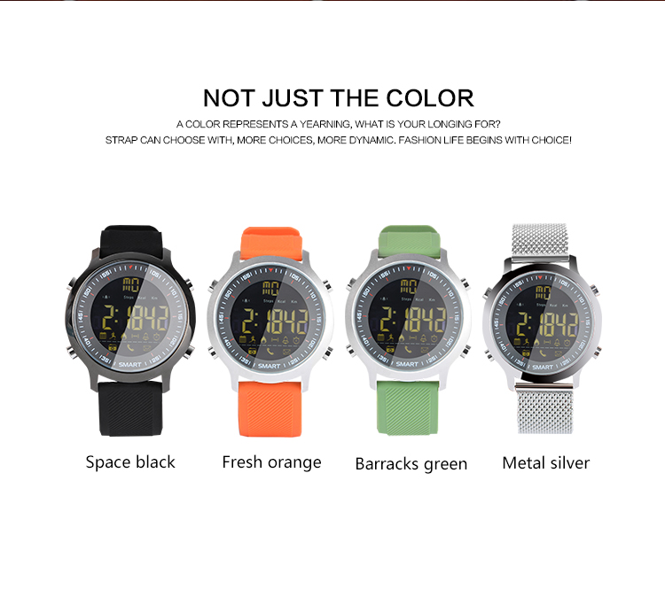 Waterproof Sports Smart Watch Wristwatch EX18 SmartWatch with Pedometer Distance Counter Stopwatch Alarm Clock