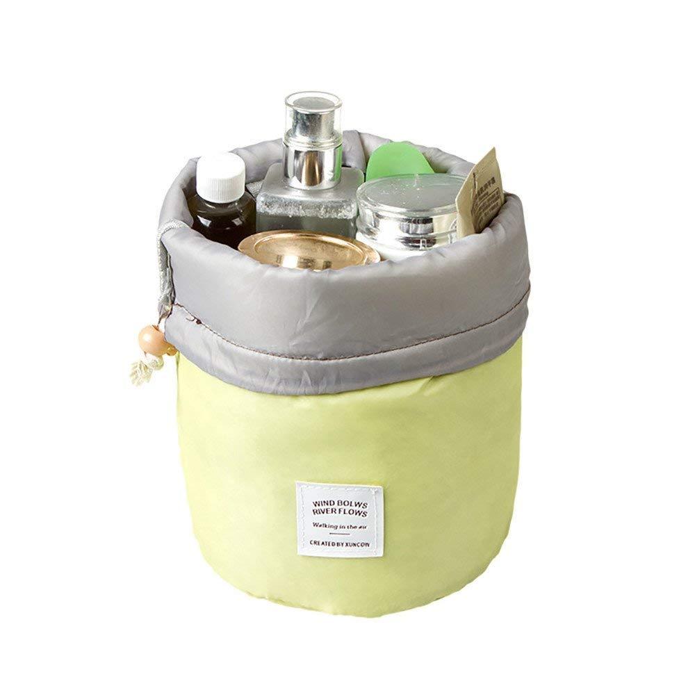 1e72156dfa Get Quotations · YRD TECH Fashion Barrel Shaped Travel Cosmetic Bag Make Up  Bag Drawstring Elegant Drum Wash Kit