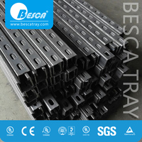 Hot Dip Glavanized Steel Slotted Strut Channel with CE, SGS, UL ( C Channel, Unistrut, Uni Strut Channel)