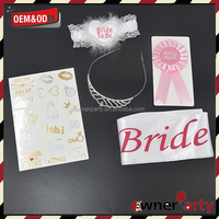 Custom Tiara Kit for Hen Party Bachelorette Party Decorations Supplies