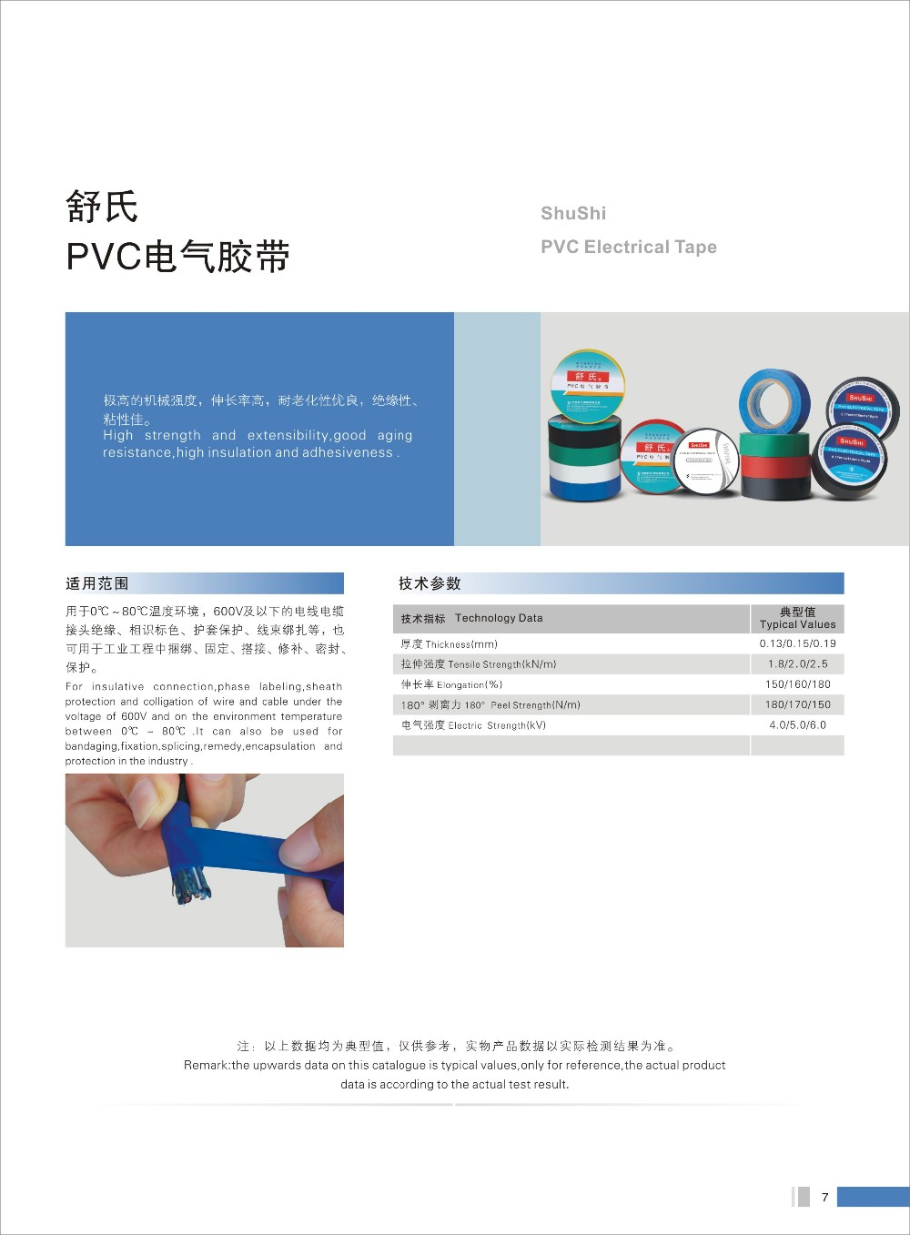 Beliebte PVC Isolierband 600 V