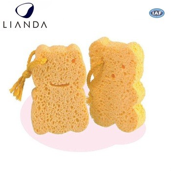 Hot selling Baby Shower Gunsten Natuurlijke Materiaal Cartoon Vorm Cellulose Mesh Bad Spons