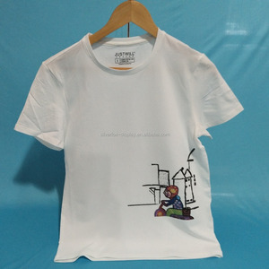 bulk quantity event trade show custom Digital printed logo t-shirts for USA and European market