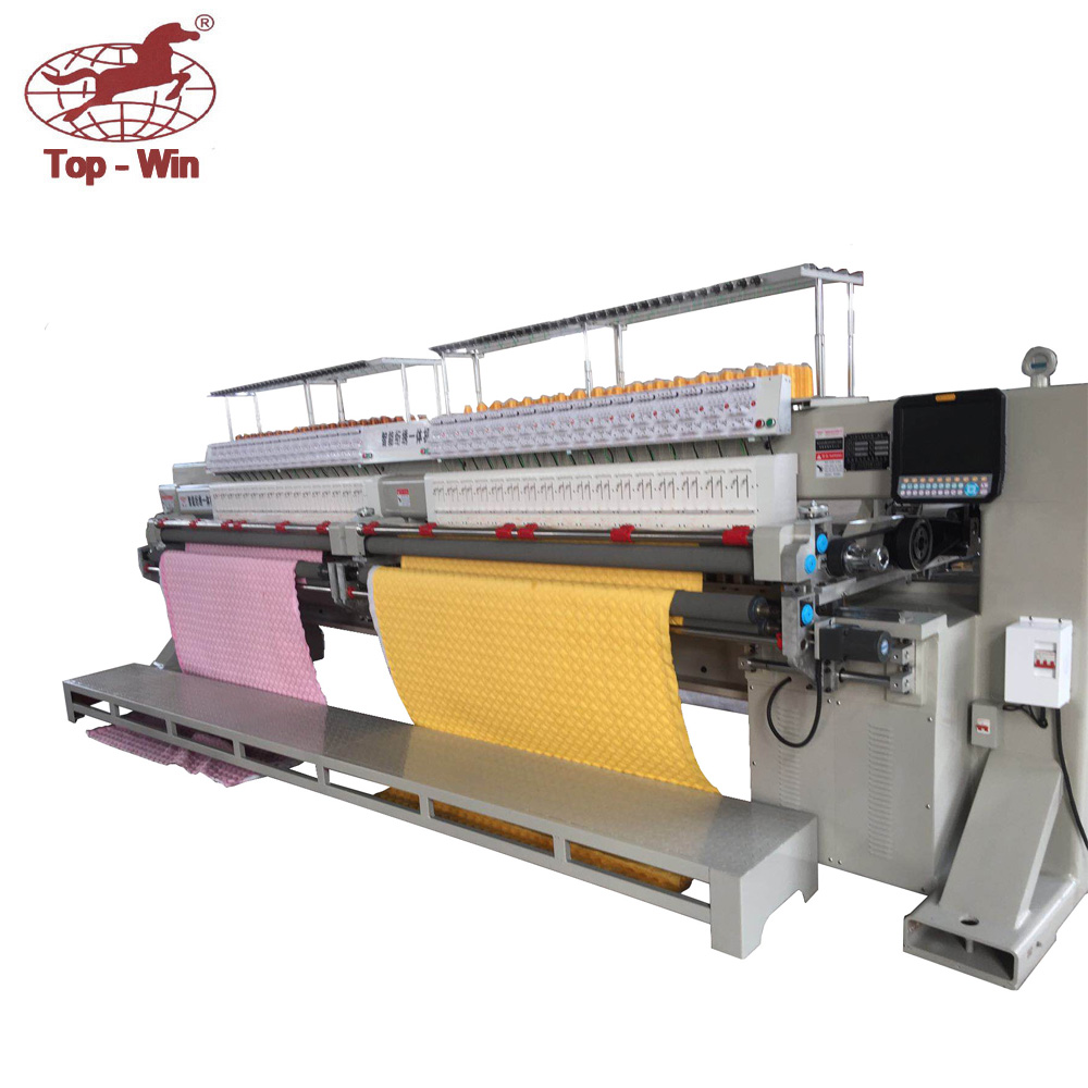 computer single color double roll quilting and embroidery machine