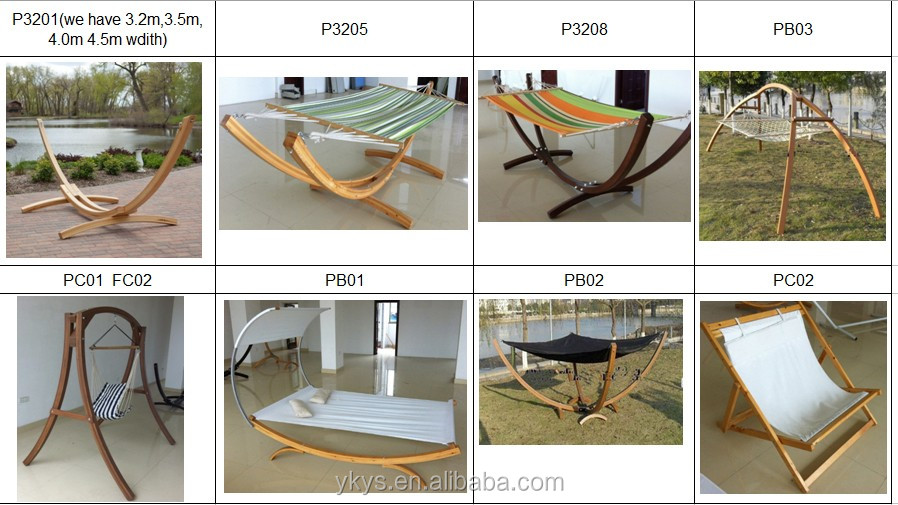 High Quality 4.7 Meter Wood Hammock Stand