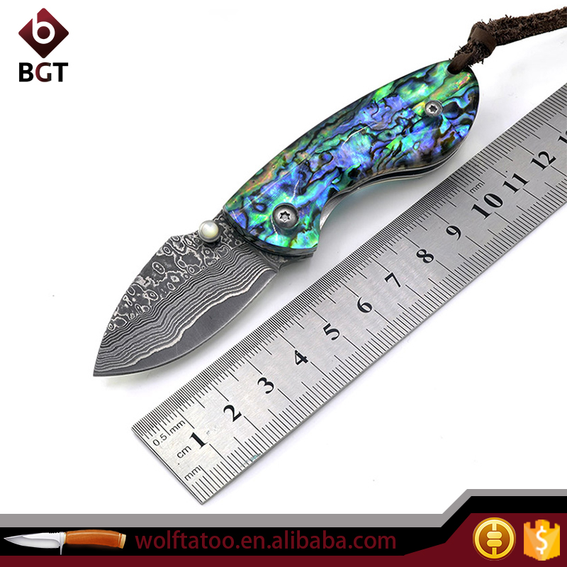 Collector Damascus Pocket Knives With Bob Handle VG10 Damascus Steel Blade Buy Hunting Knives Online