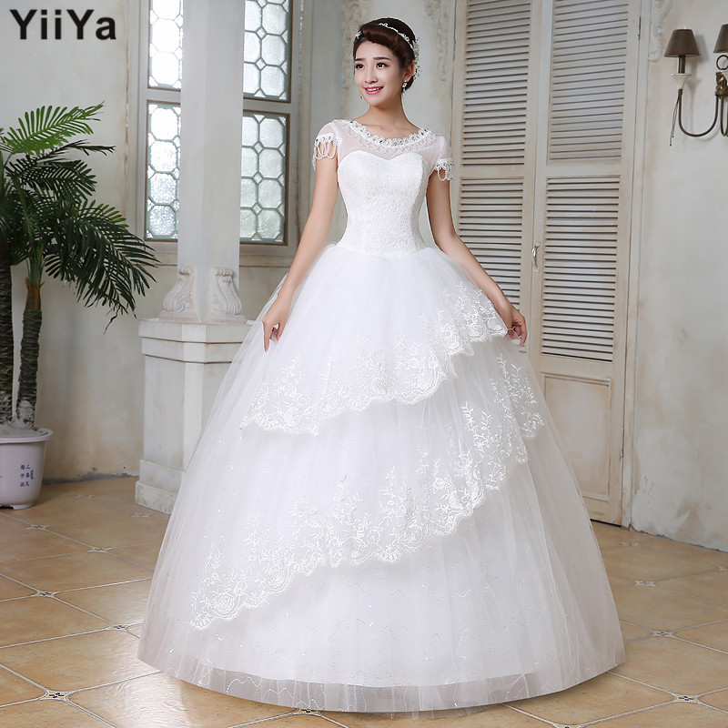 Cheap Wedding Gowns With Sleeves: Free Shipping Wedding Dresses 2015 White Plus Size Lace