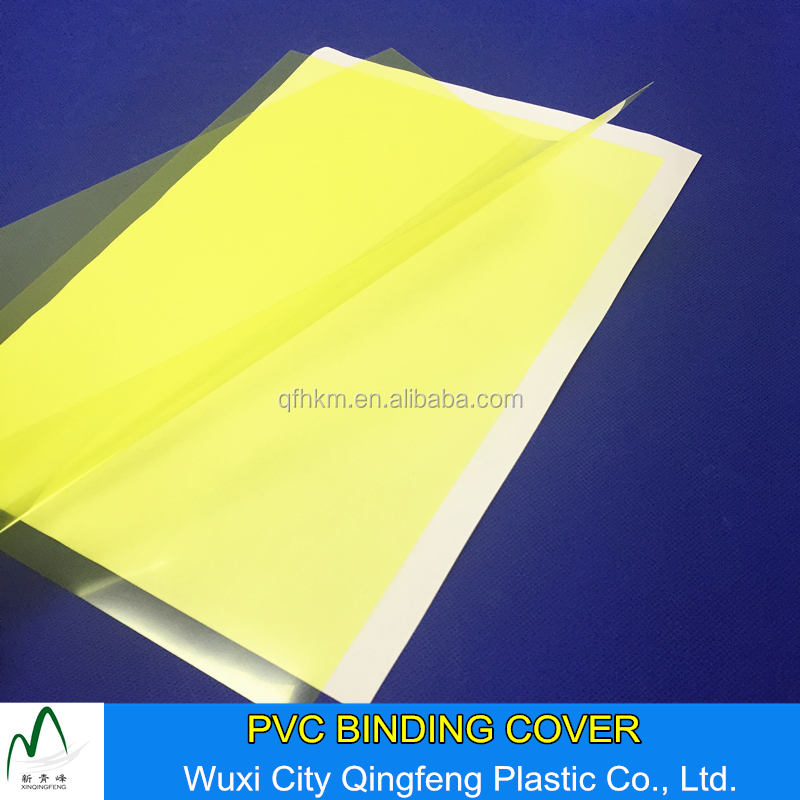 100mic 140mic 160mic 250mic Yellow Clear A4 A3 PVC Binding Cover Factory Price Plastic Book Covers