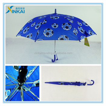 Customized Mini Size Football Cartoon Kids Umbrellas