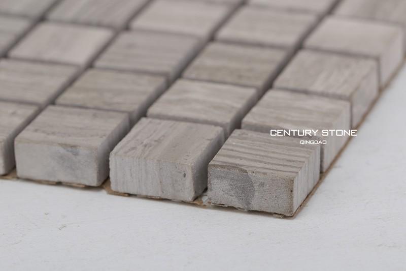 Vierkante houten korrel marmer mozaïek licht voor keuken muur en ...