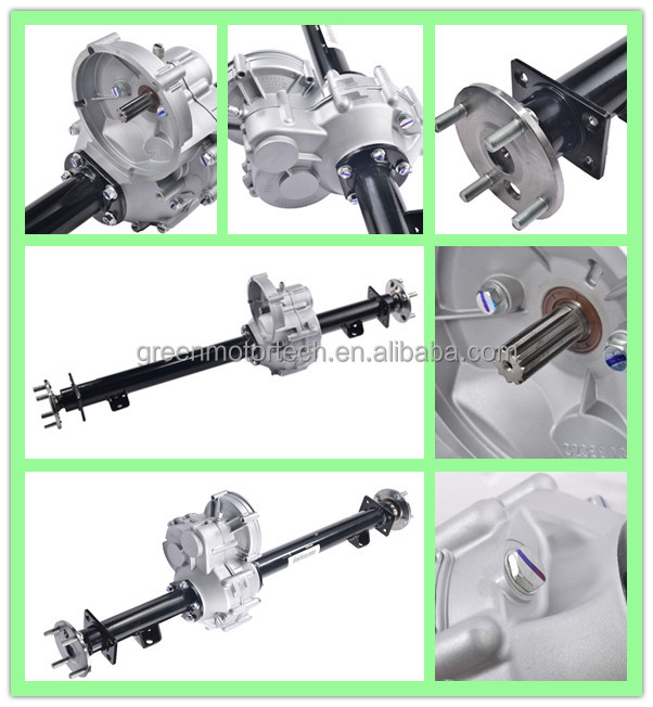 Strong Electric Golf Cart Drive Axle With Gearbox - Buy Drive Axle on skid steer drive system, go cart drive system, golf cart cooling system, golf cart charging system, bobcat drive system,