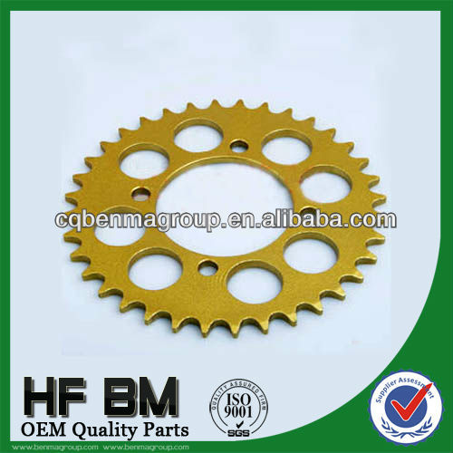 Rxz 415-36t Sprocket For Motorcycle,Paint Golden Color Hot Sell In ...