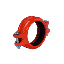 Ductile iron HDPE pipe coupling for quick connection