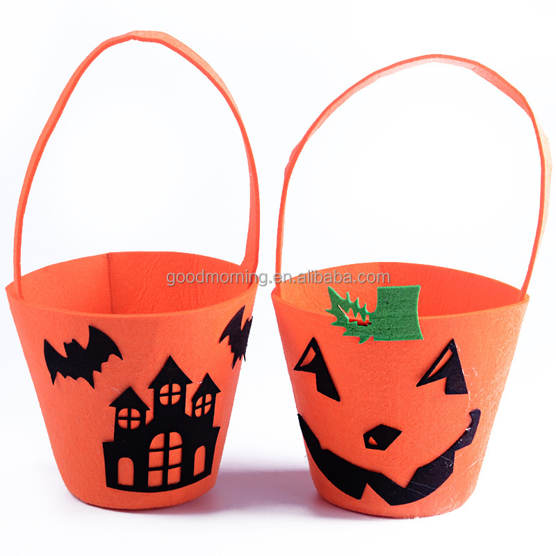 Halloween Trick or Treat Candy Basket Bucket